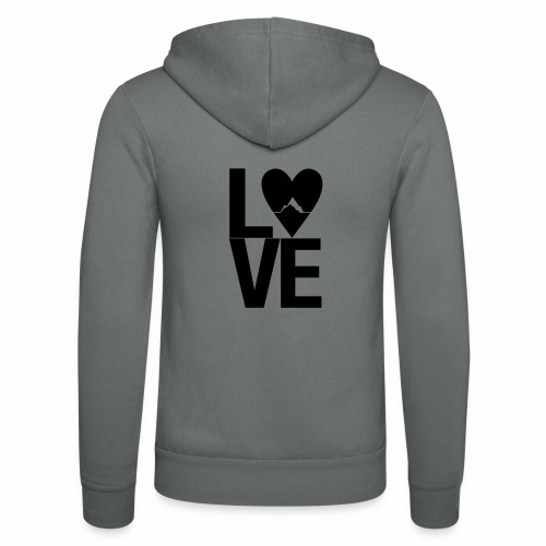 Mountain Love - Unisex Kapuzenjacke von Bella + Canvas