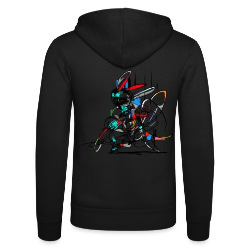Ninja fighter Easter Bunny / Abstract - Unisex Hooded Jacket by Bella + Canvas