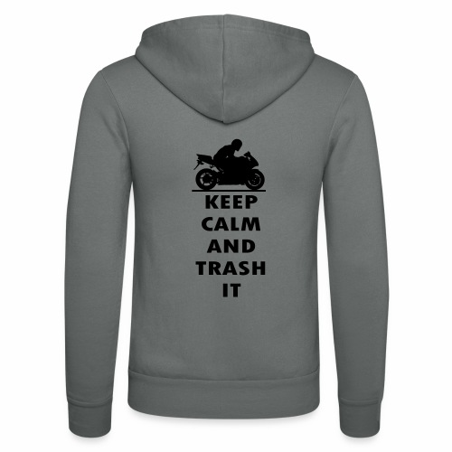 keep calm - Unisex Hooded Jacket by Bella + Canvas
