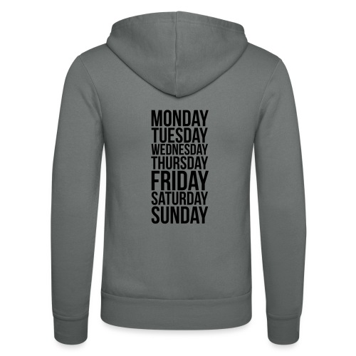 Days of the Week - Unisex Hooded Jacket by Bella + Canvas