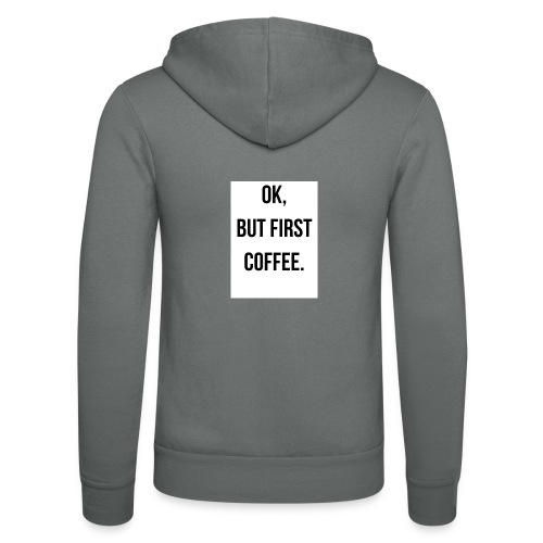 flat 800x800 075 fbut first coffee - Unisex hoodie van Bella + Canvas