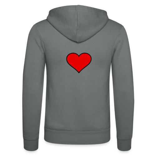 big heart clipart 3 - Luvjacka unisex från Bella + Canvas