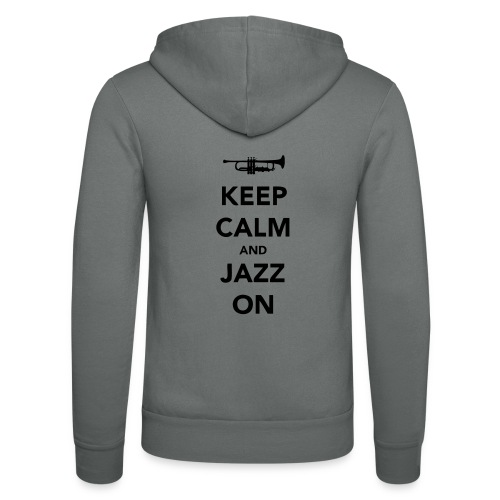 Keep Calm and Jazz On - Trumpet - Unisex Hooded Jacket by Bella + Canvas