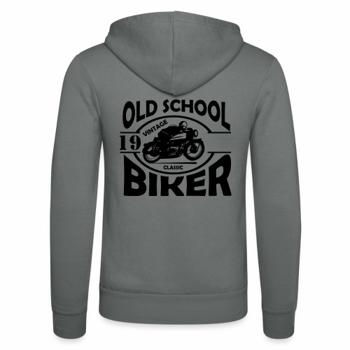 Old School Biker (customise the year) - Unisex Hooded Jacket by Bella + Canvas