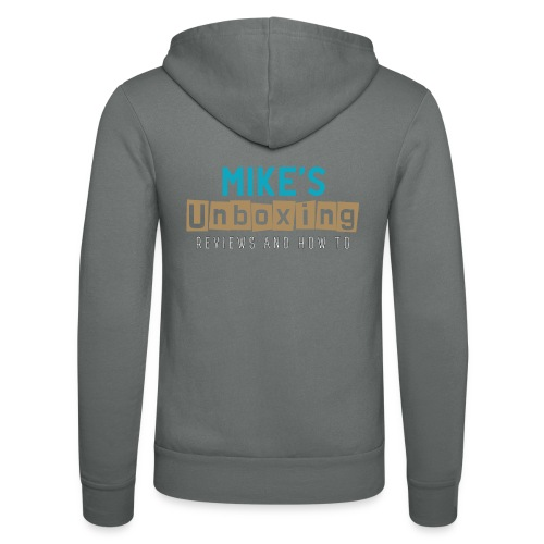 Mikesunboxing Classic Logo - Unisex Hooded Jacket by Bella + Canvas