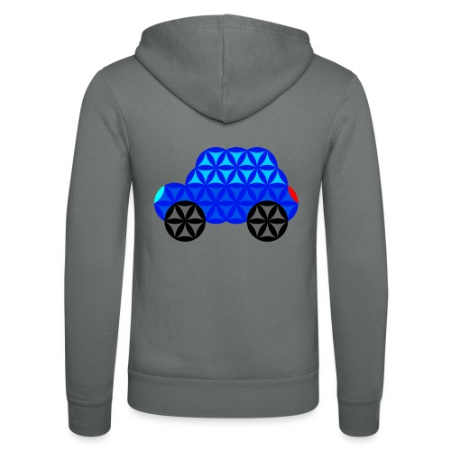 The Car Of Life - M01, Sacred Shapes, Blue/R01. - Unisex Hooded Jacket by Bella + Canvas