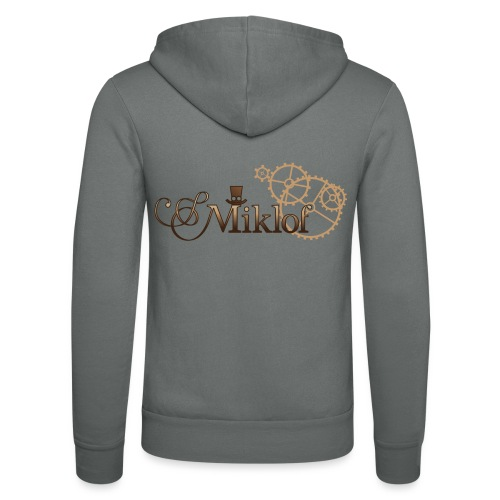 miklof logo gold wood gradient 3000px - Unisex Hooded Jacket by Bella + Canvas