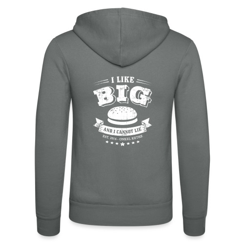I Like Big Buns Shirt - Unisex Kapuzenjacke von Bella + Canvas