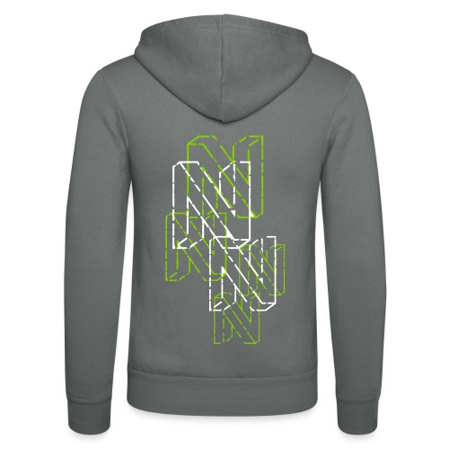 Neos logo back trashed without URL, 2-color - Unisex Hooded Jacket by Bella + Canvas