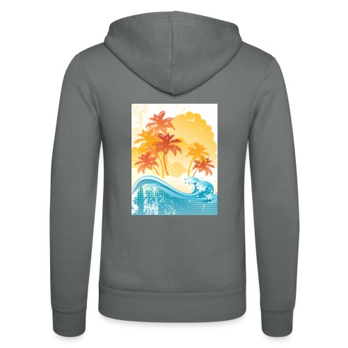 Palm Beach - Unisex Hooded Jacket by Bella + Canvas