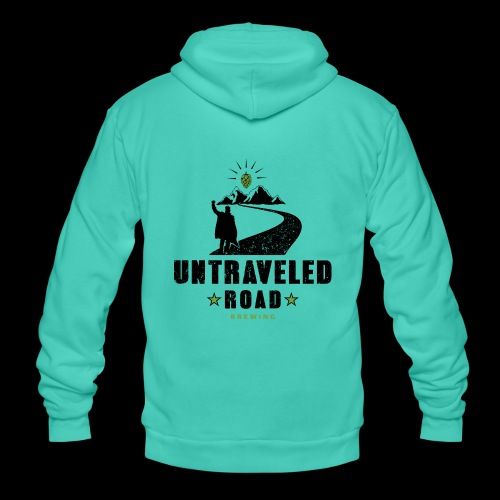 Untraveled Road Logo - black/small - Unisex Kapuzenjacke von Bella + Canvas