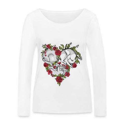 CATS- Unconditional Love/CATS-bedingungslose Liebe - Frauen Bio-Langarmshirt von Stanley & Stella