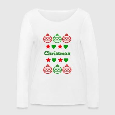 Boże Narodzenie - Ekologiczna koszulka damska z długim rękawem Stanley & Stella