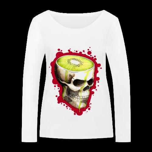 Czacha Kiwi - Ekologiczna koszulka damska z długim rękawem Stanley & Stella