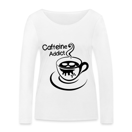 Caffeine Addict - Vrouwen bio shirt met lange mouwen van Stanley & Stella