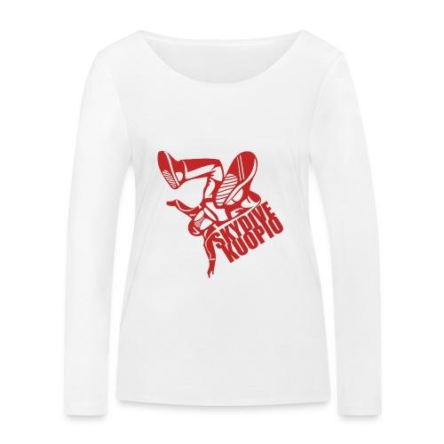 KLU logo red - Stanley & Stellan naisten pitkähihainen luomupaita