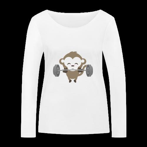 Fitnessmonkey neu - Frauen Bio-Langarmshirt von Stanley & Stella