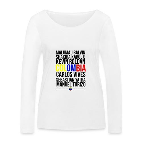 Reggaeton Shirt Kolumbien - Frauen Bio-Langarmshirt von Stanley & Stella