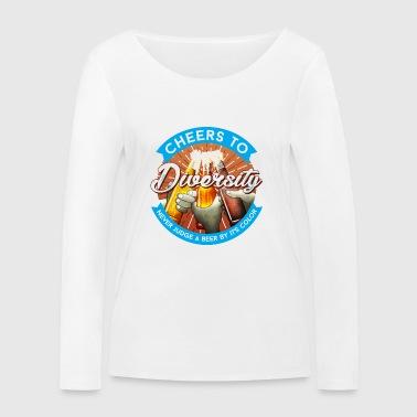 Skål - Økologisk langermet T-skjorte for kvinner fra Stanley & Stella