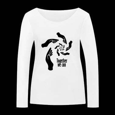 Tillsammans kan vi - Ekologisk långärmad T-shirt dam från Stanley & Stella