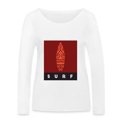 Surfing del Mundo by Te-Moana - Frauen Bio-Langarmshirt von Stanley & Stella