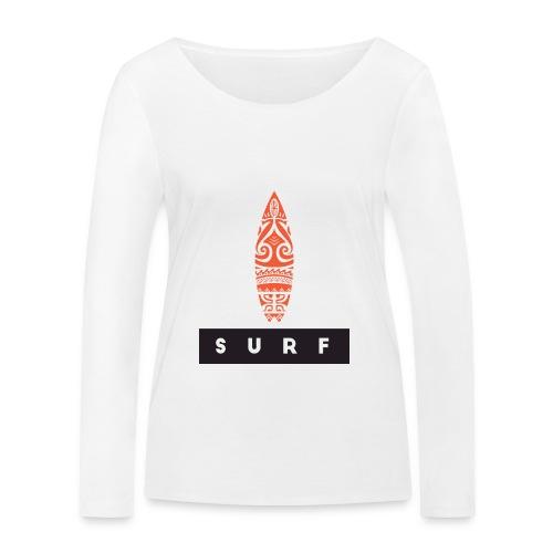 Surfing Hero by Te-Moana - Frauen Bio-Langarmshirt von Stanley & Stella