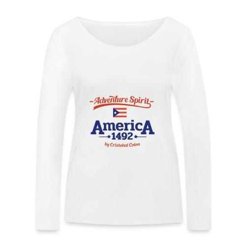 Adventure Spirit America 1492 - Frauen Bio-Langarmshirt von Stanley & Stella
