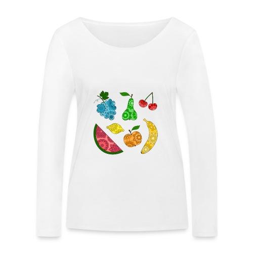 Obstsalat - Frauen Bio-Langarmshirt von Stanley & Stella