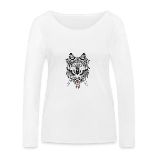 WOLF-PEDAELA - Camiseta de manga larga ecológica mujer de Stanley & Stella