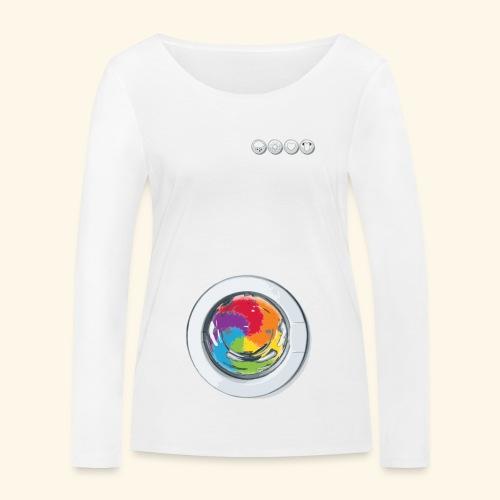 Rainbow Laundry-Unisex - Women's Organic Longsleeve Shirt by Stanley & Stella