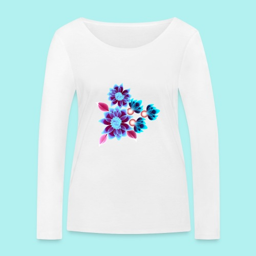 Hypnotic flowers - T-shirt manches longues bio Stanley & Stella Femme