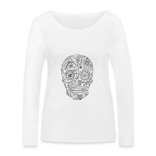 Sugar Skull - T-shirt manches longues bio Stanley & Stella Femme