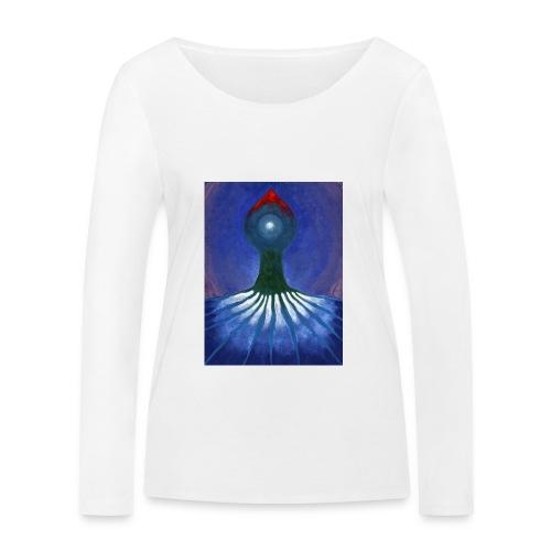 Drzewo Samotne - Ekologiczna koszulka damska z długim rękawem Stanley & Stella
