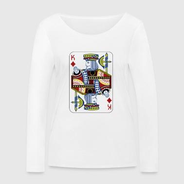 Spielkarte Poker Black Jack König Geschenk - Frauen Bio-Langarmshirt von Stanley & Stella