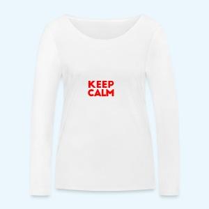 I Can't Keep Calm (voor donkere stof) - Vrouwen bio shirt met lange mouwen van Stanley & Stella
