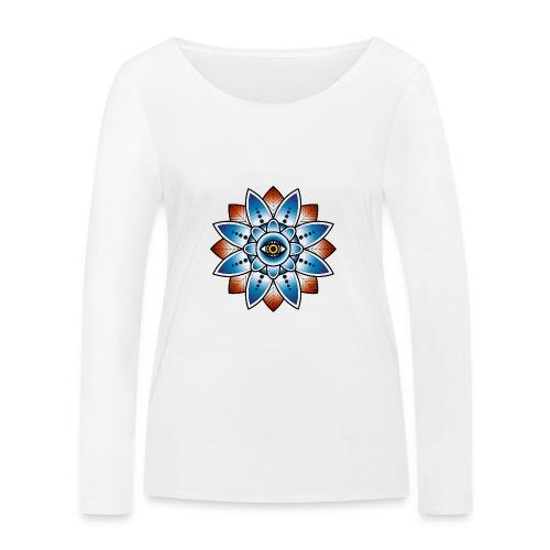 Psychedelisches Mandala mit Auge - Frauen Bio-Langarmshirt von Stanley & Stella