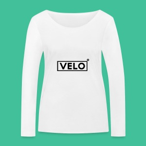 Velo Icon Blk - Long Sleeve Baseball Shirt W/N Clr - Women's Organic Longsleeve Shirt by Stanley & Stella