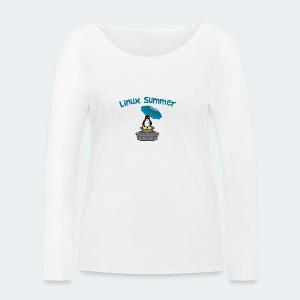linux summer - Maglietta a manica lunga ecologica da donna di Stanley & Stella