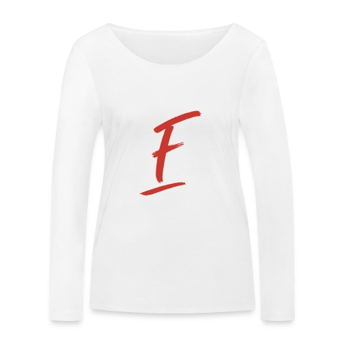 Radio Fugue F Rouge - T-shirt manches longues bio Stanley & Stella Femme