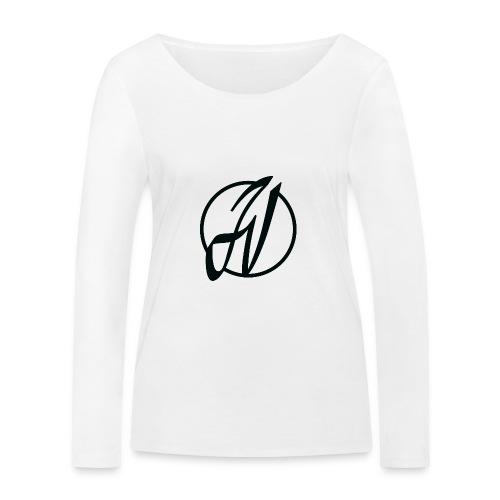 JV Guitars - logo noir - T-shirt manches longues bio Stanley & Stella Femme