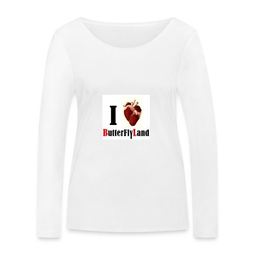 I love Butterflyland - T-shirt manches longues bio Stanley & Stella Femme