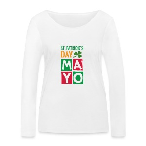 Celebrate St. Patrick's Day in Mayo - Women's Organic Longsleeve Shirt by Stanley & Stella