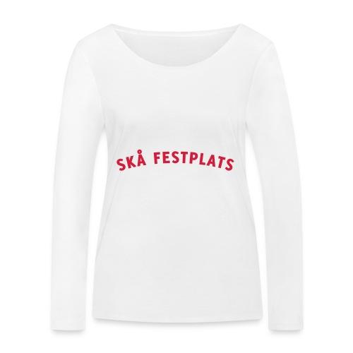 Skå Festplats Logotyp Röd - Ekologisk långärmad T-shirt dam från Stanley & Stella