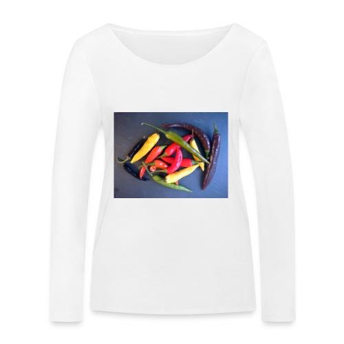 Chili bunt - Frauen Bio-Langarmshirt von Stanley & Stella