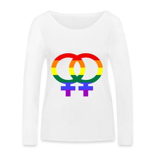 Gay Women Sign - Frauen Bio-Langarmshirt von Stanley & Stella