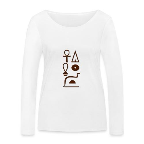 Hieroglyphen - Leben wie Re ewig - Frauen Bio-Langarmshirt von Stanley & Stella