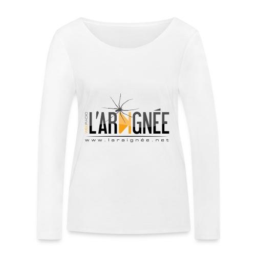 L'ARAIGNÉE, logo noir - T-shirt manches longues bio Stanley & Stella Femme