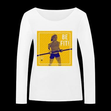 BE FIT! - Ekologiczna koszulka damska z długim rękawem Stanley & Stella