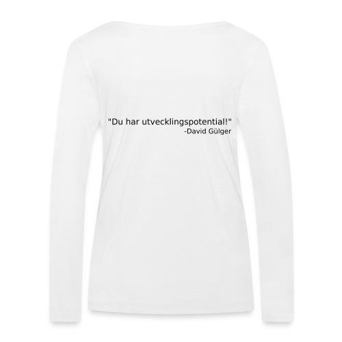 Ju jutsu kai förslag 1 version 1 svart text - Ekologisk långärmad T-shirt dam från Stanley & Stella