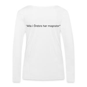 Ju jutsu kai förslag 2 version 1 svart text - Ekologisk långärmad T-shirt dam från Stanley & Stella